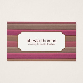 Striped Mommy Calling Cards