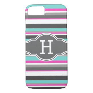Striped Monogram iPhone 7 Case