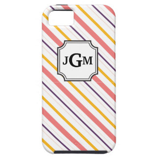 Striped Monogram iPhone Case iPhone 5 Covers