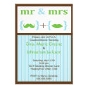 Striped Mr. and Mrs. Shower Invitation