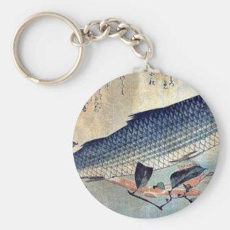 Striped mullet Bora by Ando, Hiroshige Ukiyoe Keychain