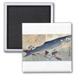 Striped mullet Bora by Ando, Hiroshige Ukiyoe Fridge Magnets