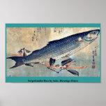 Striped mullet Bora by Ando, Hiroshige Ukiyoe Posters