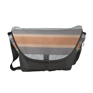 striped neutral colors gray brown messenger bag