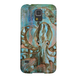 Striped Octopus Sea Creature Art Phone Case