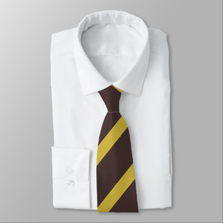 Striped Old Gold Tie