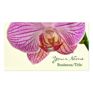 Striped Orchid Business Cards