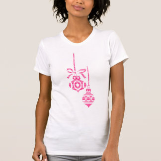 Striped Ornaments - Women's Short Sleeve (Pink) T-Shirt