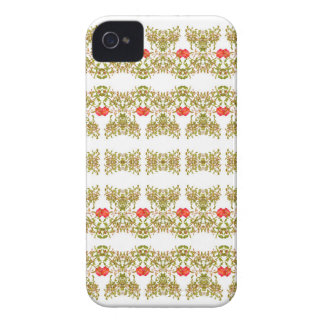 Striped Ornate Floral Print iPhone 4 Cover