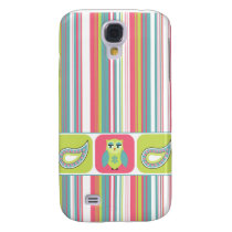 Striped Paisley Owl Samsung S4 Case