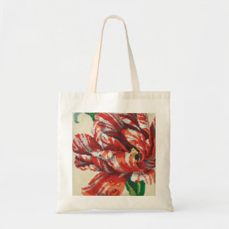 Striped Parrot Tulip Big Stitch tote