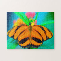 Striped Passion Flower Butterfly. Jigsaw Puzzle