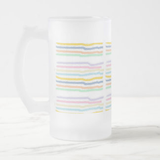 Striped Pastels (horizontal) Frosted Mug