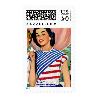 Striped Patriotic Sweater U.S. Postage Stamps