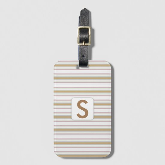 Striped Pattern • Monogram Bag Tag