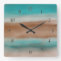 Striped Pattern Wall Clock with Numbers
