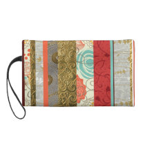 Striped Pattern Wristlet