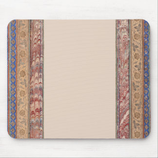 Striped patterns in pastel colors and blue mouse pad