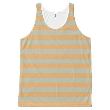 Beach Themed Striped peach All-Over-Print tank top