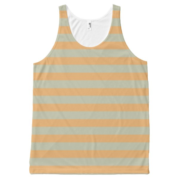 Striped peach All-Over-Print tank top