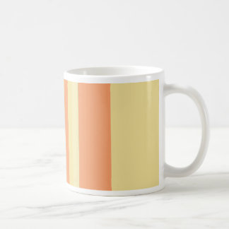 Striped Peaches and Cream Coffee Mug
