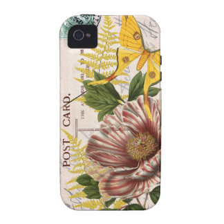 Striped Peony Vibe iPhone 4 Cover
