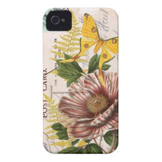 Striped Peony iPhone 4 Case