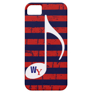 striped personalized music note iPhone 5/5S case