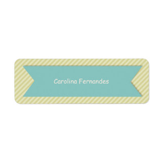 Striped Personalized Name Tag Labels