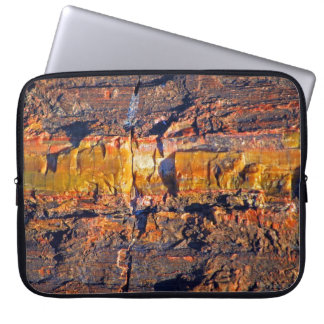 """""""Striped Petrified Wood"""" collection laptop sleeve"""
