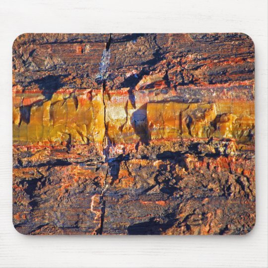 """Striped Petrified Wood"" collection Mouse Pad"