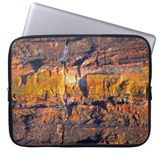 striped petrified wood laptop sleeve