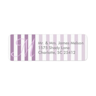 Striped Pick Any Color Wedding Personalized Label