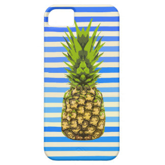 Striped Pineapple Greeting Card - Original Artwork iPhone 5 Cover