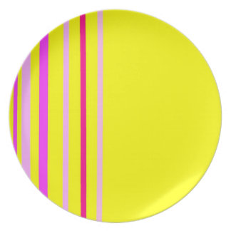 Striped Plate Yellow