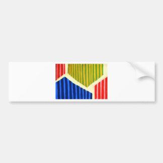 Striped Polygons (geometric expressionism) Car Bumper Sticker