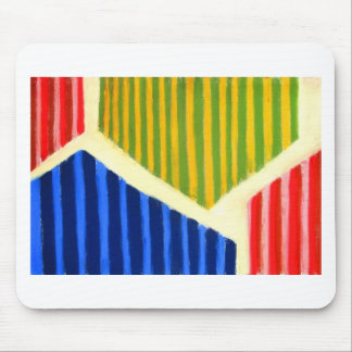 Striped Polygons (geometric expressionism) Mouse Pad
