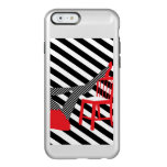 Striped Pop art. Red, black, white cool silhouette Incipio Feather Shine iPhone 6 Case
