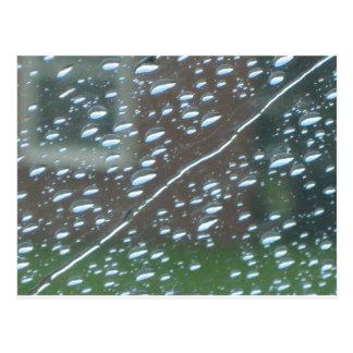 Striped Rain Postcard