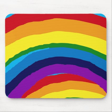 Striped Rainbow Abstract Mousepad