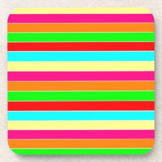 Striped Rainbow Coaster