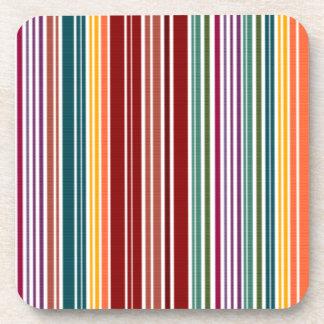 Striped Rainbow | Customizable Drink Coaster