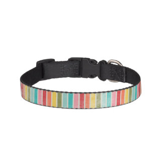 Striped Rainbow Dog Collar