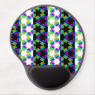 Striped Rainbow Spider Web gel mouse pad