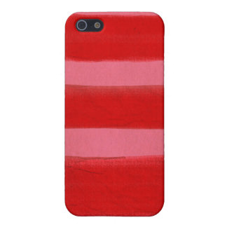Striped Red and Pink iPhone SE/5/5s Cover
