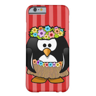 Striped red case with hawai penguin for iPhone6/6s