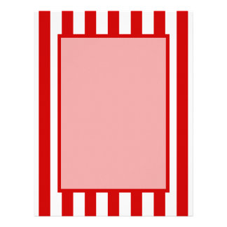 Striped Red + Custom Color Letterhead