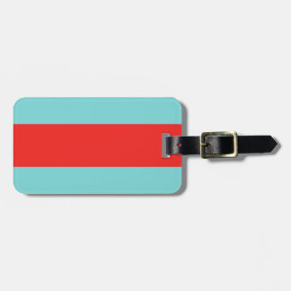 Striped (Red & Robbins Egg Blue) Luggage Tag