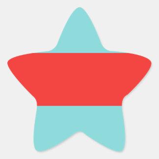 Striped (Red & Robbins Egg Blue) Star Sticker