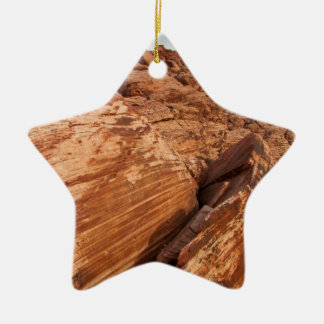 Striped Red Rocks Ceramic Ornament